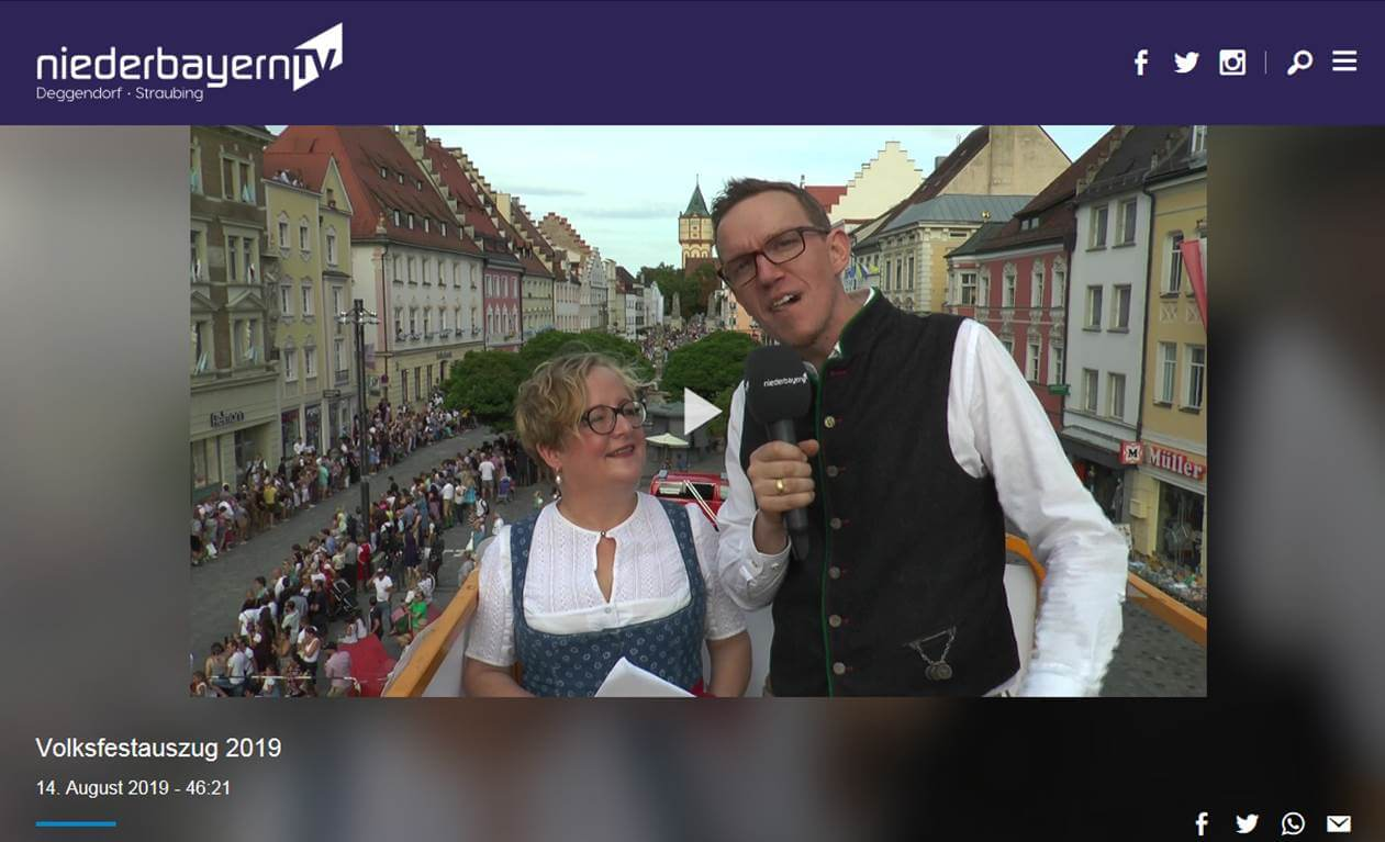 Auszug 2019 bei NIEDERBAYERN.TV