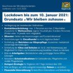 Infos zum Corona-Lockdown ab 16.12.2020